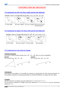 Construction de triangles (cours 5ème) - Epsilon 2000