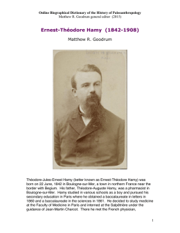 Ernest-Théodore Hamy - Department of Science and Technology in