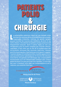 Patients polio et chirurgie AP-HP