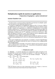 Multiplication rapide de matrices et applications - IMJ-PRG