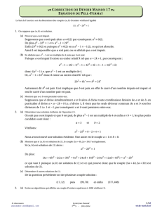 CORRECTION DU DEVOIR MAISON 17 EQUATION - Wicky-math