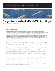 La protection des krills de l`Antarctique