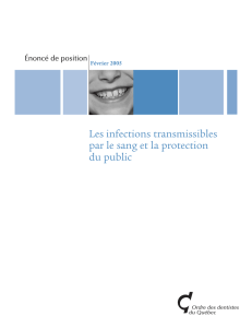 Les infections transmissibles par le sang et la protection du public