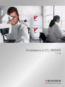 Incubateurs à CO BINDER