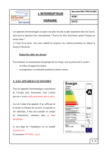 L`interrupteur horaire document professeur