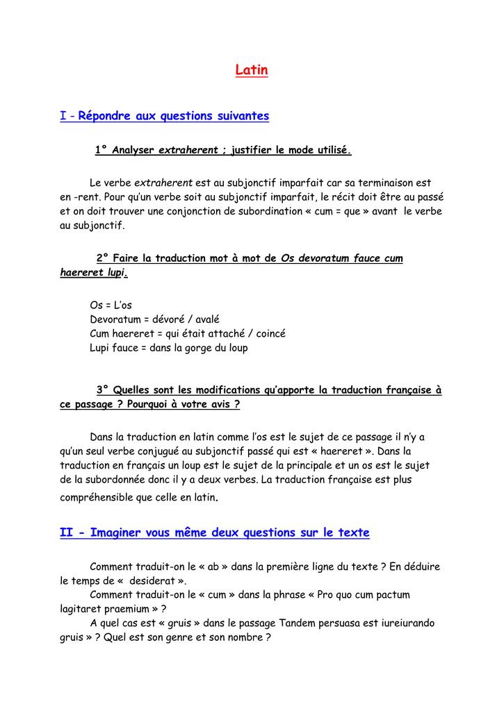 Réponses aux questions 2