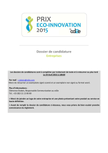 Dossier ecoentreprise PrixEcoInnovation cd2e2015