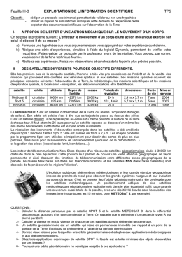 Feuille III-3 EXPLOITATION DE L`INFORMATION SCIENTIFIQUE