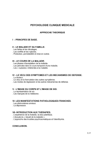 PSYCHOLOGIE CLINIQUE MEDICALE
