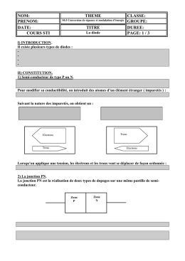 La diode document élève