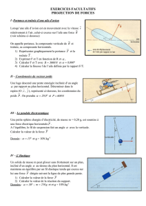 EXERCICES PROJECTION DE FORCES