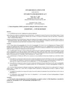 ONTARIO WATER RESOURCES ACT - O. Reg. 217/09