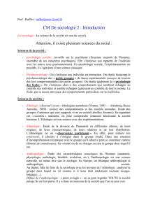 CM De sociologie 2 : Introduction
