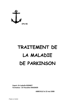 Traitement de la maladie de parkinson 2008