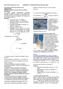 Exercice II Station spatiale ISS (6,5 points)