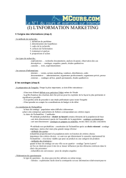 L`INFORMATION MARKETING