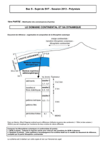Bac S - Sujet de SVT - Session 2013