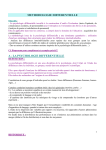METHODOLOGIE DIFFERENTIELLE