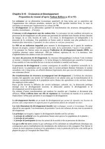 Croissance et developpement dissertation