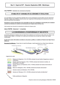 Bac S - Sujet de SVT - Session Septembre 2006