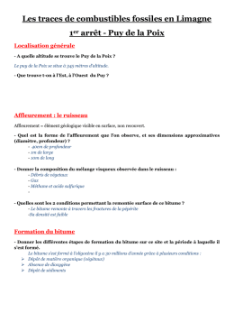 Document 1 - Succession de strates sédimentaires de Gandaillat