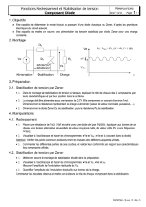 3.1. Stabilisation de tension par Zener