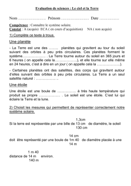 Evaluation Le systèm..