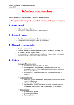 Infections à entérovirus