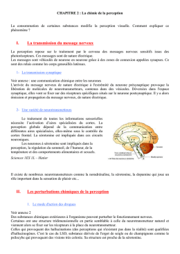 Chap. 2: La chimie de la perception