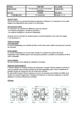 Le contacteur document professeur