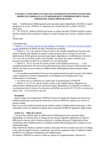 contrat type portant sur les conditions d`intervention des