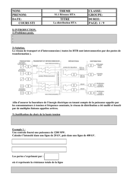 La distribution HTA document élève