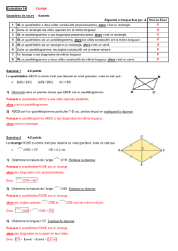 Evaluation 13 - MathsObjectifBrevet
