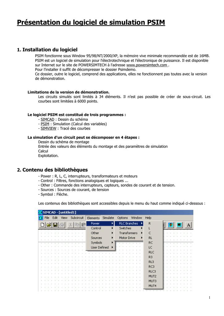 PSIM 6.1 TÉLÉCHARGER