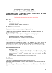 Groupe 3 – l`expression du but