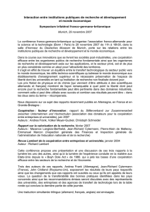 Traduction de la lettre de M