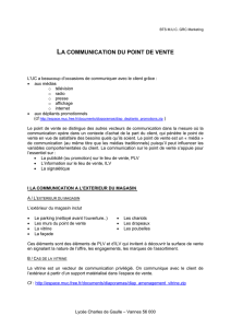 La communication du point de vente - Document sans nom