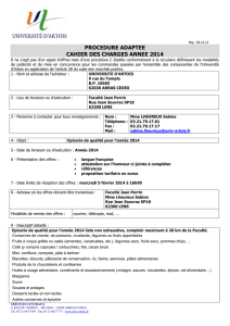 cahier des charges annee 2014