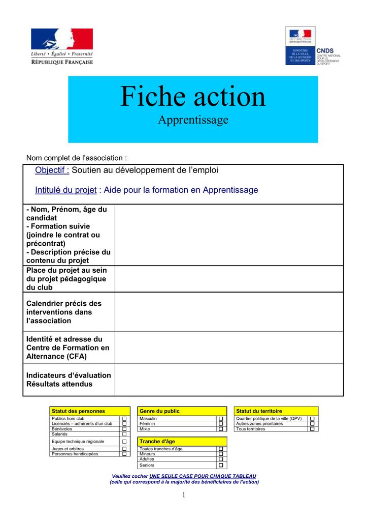 Fiche action Apprentissage - Préfecture des Hauts-de