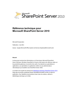 Produits SharePoint Server 2010 - Center