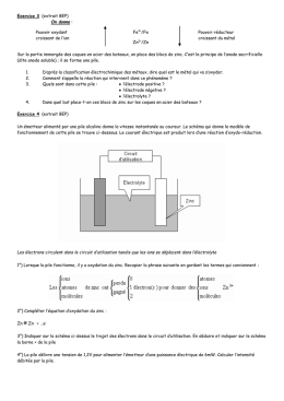 Cours (exerices redox)
