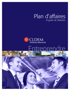 CLDEM - PLan d`affaires et Guide de rédaction