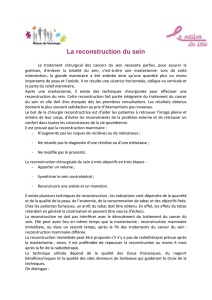 La reconstruction du sein