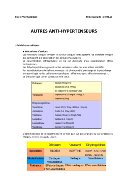 Fixe : Pharmacologie Mme Queuille : 04.03.09 AUTRES ANTI