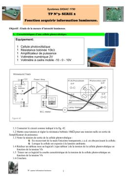 R alisation d 1 solarim tre photodiode for Fonction combinatoire
