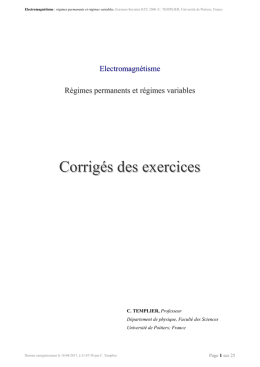 electromagnetisme - Exercices corriges