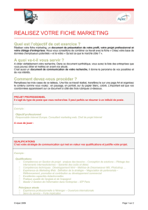 fiche marketing
