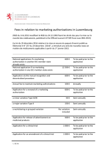fees for marketing authorization applications in luxembourg