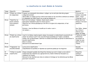La classification du vivant