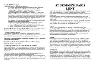 LENT - St George`s Paris